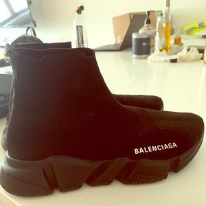 Triple black balenciaga speed trainer- woman's 8.